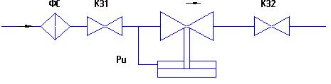 РД - сборка «НЗ» - регулятор давления; регулирование давления «до себя»
